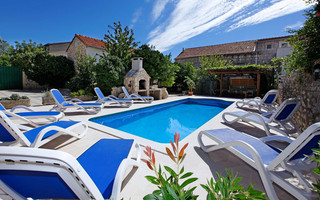 Stone Villa with Pool near Amazing Pebble Beach Orebic Peljesac