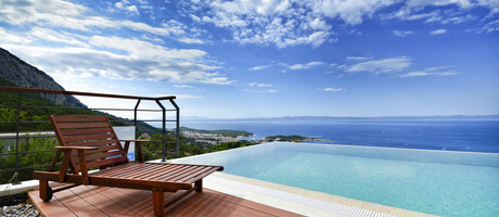 Fabulous Luxury Villa with Heated Infinity Pool and Sea View over Makarska