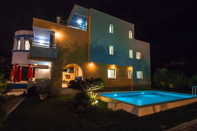 Exclusive Colorful Beach Villa with Pool near Split