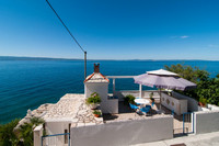 Lovely Seafront Holiday Home with Panoramic Sea View near Split