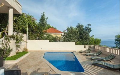 Large Seafront Holiday House with Pool and Large Outdoor Terrace; island Brac