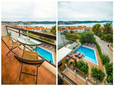 Stylish 6 Bedrrom Sea View Villa with Pool near Trogir