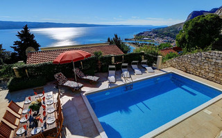 Astonishing Villa with Pool and Amazing Sea View in Omis
