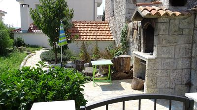Charming House in Front of Beautiful Pebble Beach in the Heart of Trogir Riviera
