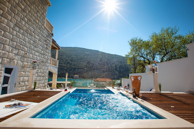 Frontline Villa with Pool and Built in Jacuzzi in Dubrovnik Area