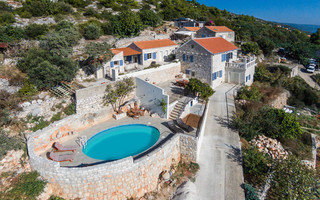Unique Stone Villa with Pool and Stunning Sea Views in Zavala, Island Hvar