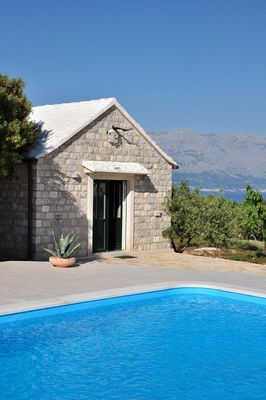 Holiday House with Pool in Pucisca Island Brac
