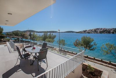 Luxury Beachfront Villa in Rogoznica with Beautiful Terrace and Private Pool