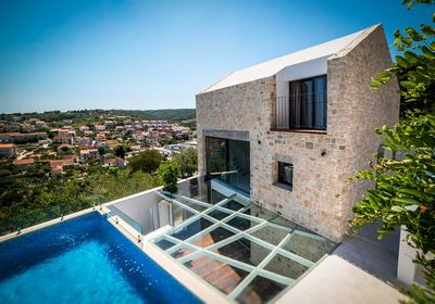 Island Brac Stone Villa with Indoor and Outdoor Swimming Pool in Sutivan