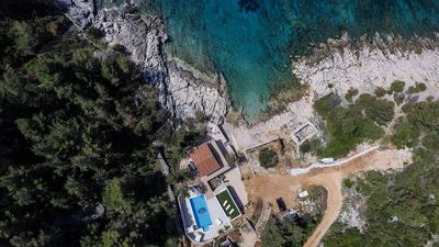 Exclusive Designer Seafront Villa with Pool and Large Private Yard Island Hvar