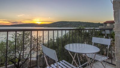 Adorable Holiday House First Row to the Sea with Private Beach near Trogir