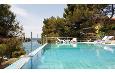 Luxury Seafront Family Villa with Private Pool, Tennis Court and Boat Mooring