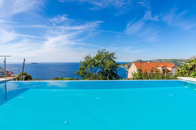Adorable Modern Sea View Villa above Mlini near Dubrovnik