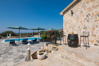 Beautiful Stone Holiday Villa with Pool and Gorgeous Sea Views