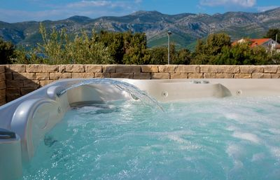 Luxury Sea View Villa with Pool Sauna and Jacuzzi near the Beach island Korcula