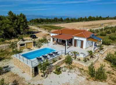 Island Brac Family Holiday House with Pool within amazing Private Yard and Olive Groves in Sutivan