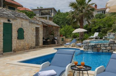 Large Island Brac Children Friendly Villa with Pool near Pebble Beach