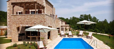 Istria countryside villa with pool