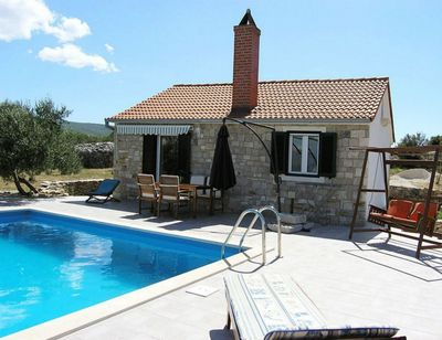 Authentic Stone House with Pool in Postira; Island Brac