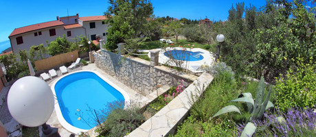 Modern Makarska Villa With Swimming Pool, Children Pool, and Organic Garden