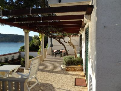 Beachfront villa with private beach in Kanica on Rogoznica Riviera
